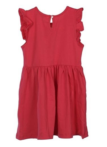 Silversun Kids Kız Çocuk Pul Payetli Kolları Fırfırlı Örme Elbise Örme Elbise - Ek 218113 Fuşya